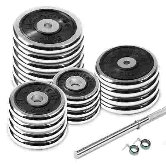 100-kg Chrome Barbell Set