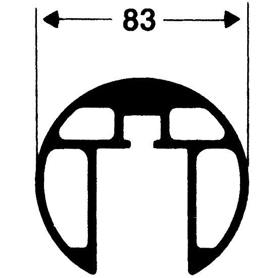 Paar Volleyball-Pfosten DVVII 8mm, Spindelspoannvorrichtung II 2. Wahl