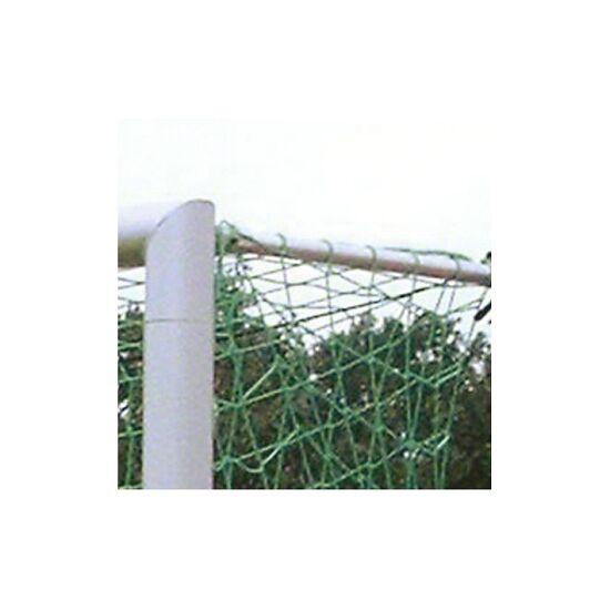 11-mands Alu-Fodboldmål i bøsninger,  med sammenskruede geringer Matsølv eloxeret