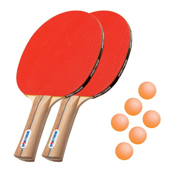 """Sport-Thieme® Tischtennis-Schlägerset """"Rom"""" Bälle Orange"""