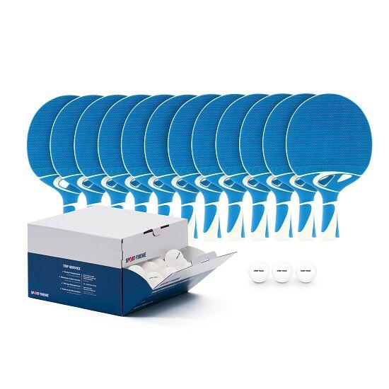 """Cornilleau® Tischtennisschläger-Set """"Tacteo 30 Outdoor"""" Bälle Weiß"""