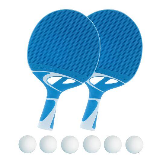 """Cornilleau® Tischtennisschläger-Set """"Tacteo 30"""" Bälle Weiß"""