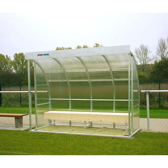 Sport-Thieme® Spielerkabine für 6 Personen Verglasung:Polycarbonat, Sitzbank