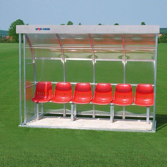 Sport-Thieme® Spielerkabine für 6 Personen Verglasung:Acrylglas, Sitzschale
