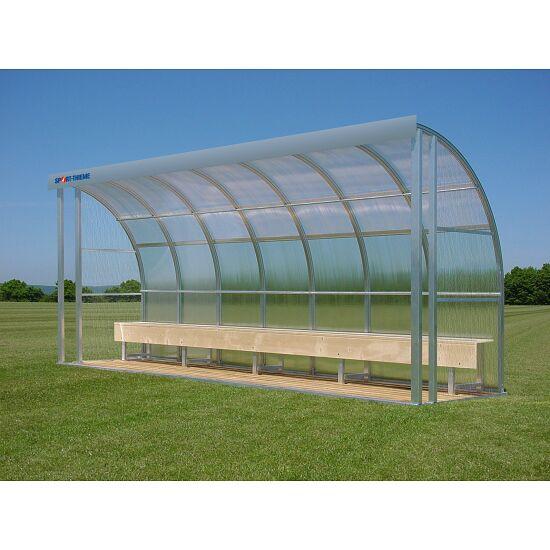 Sport-Thieme® Spielerkabine für 10 Personen Sitzbank, Acrylglas