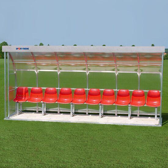 Sport-Thieme® Spielerkabine für 10 Personen Sitzschale, Acrylglas