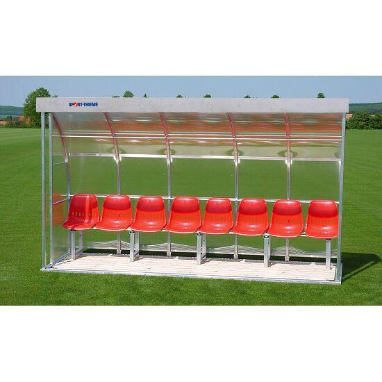 Sport-Thieme® Spielerkabine für 8 Personen Verglasung:Polycarbonat, Sitzschale
