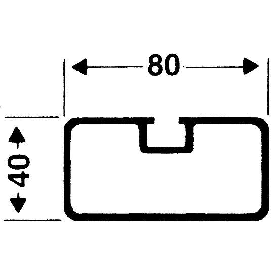 Sicherheits-Verankerungs-System 80x40 mm