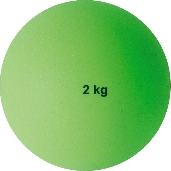 Sport-Thieme® Stoßkugel aus Kunststoff 2 kg, Grün, ø 114 mm