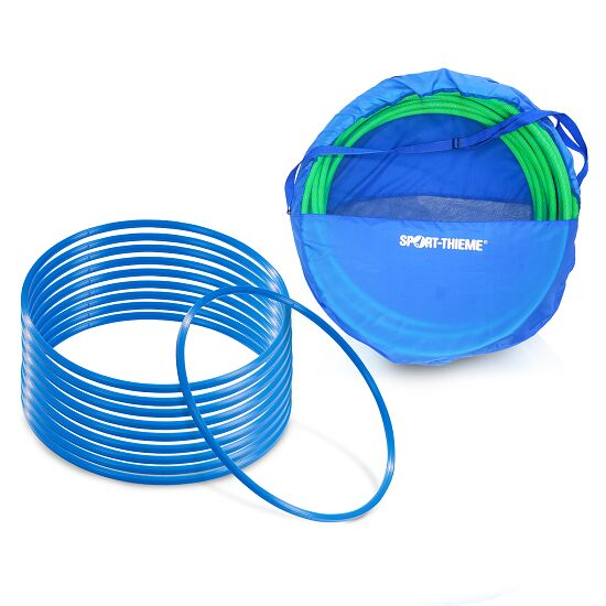Set Gymnastikreifen ø 60 cm plus Aufbewahrungstasche Blau