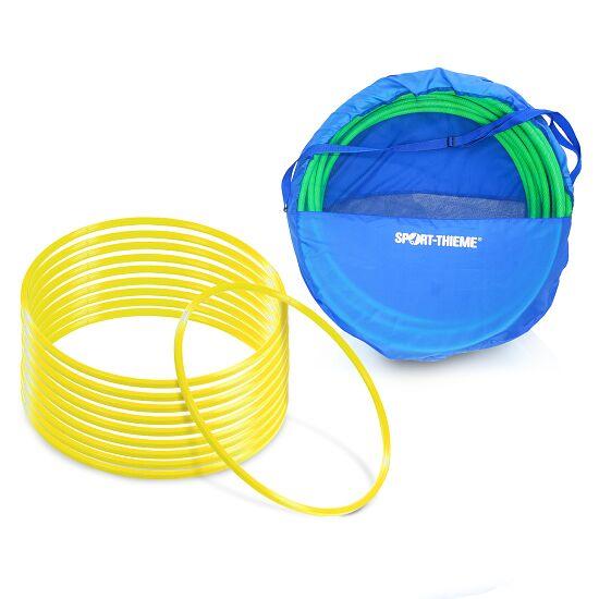 Set Gymnastikreifen ø 80 cm plus Aufbewahrungstasche Gelb