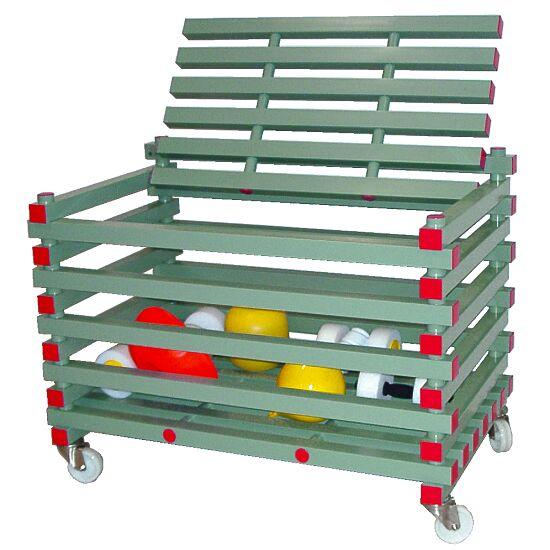 REA® Kunststoff Materiallagerungswagen Mit Deckel