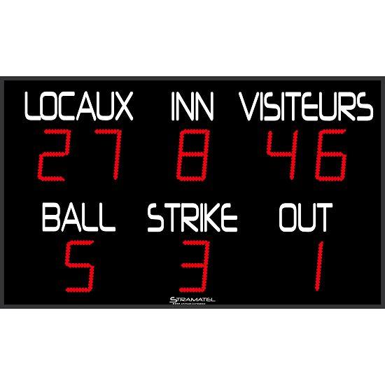 """Stramatel® Baseball Anzeigetafel """"FBB"""""""