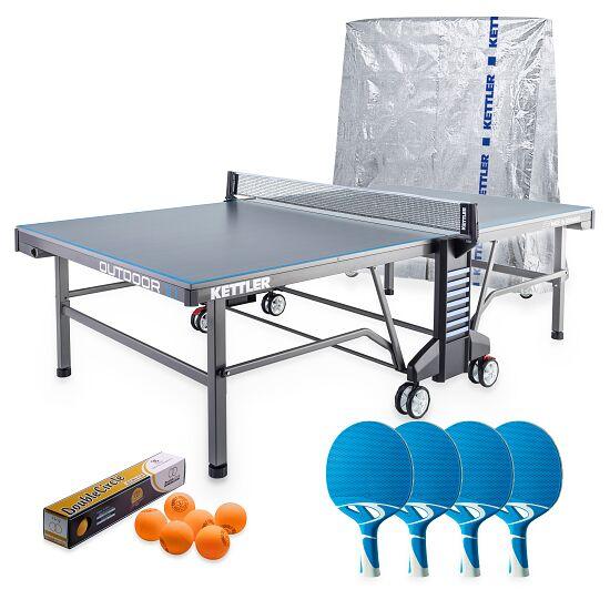 """Kettler® Tischtennis-Set """"Outdoor 10"""" Grau/Blau"""