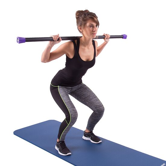 Sport-Thieme® Steel Weighted Bar 6 kg, Lila
