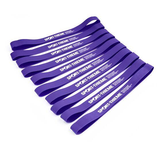 Sport-Thieme® Rubberbands 10er Sets Violett = stark, 26,5x3 cm