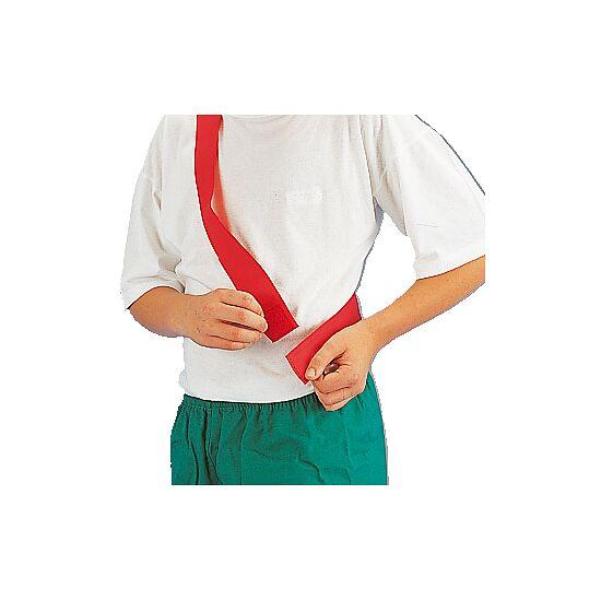 Teamband mit Klettverschluss Kinder, L: ca. 50 (100) cm, Rot