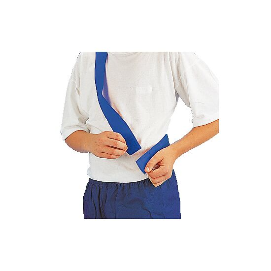 Teamband mit Klettverschluss Kinder, L: ca. 50 (100) cm, Blau