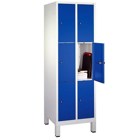 """Fächerschrank """"S 3000 Evolo"""" mit Füßen (3 Fächer übereinander) 185x61x50 cm/ 6 Fächer, Enzianblau (RAL 5010)"""