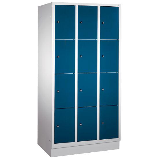 """Fächerschrank """"S 3000 Evolo"""" mit Sockel (4 Fächer übereinander) 180x90x50 cm/ 12 Fächer, Enzianblau (RAL 5010)"""