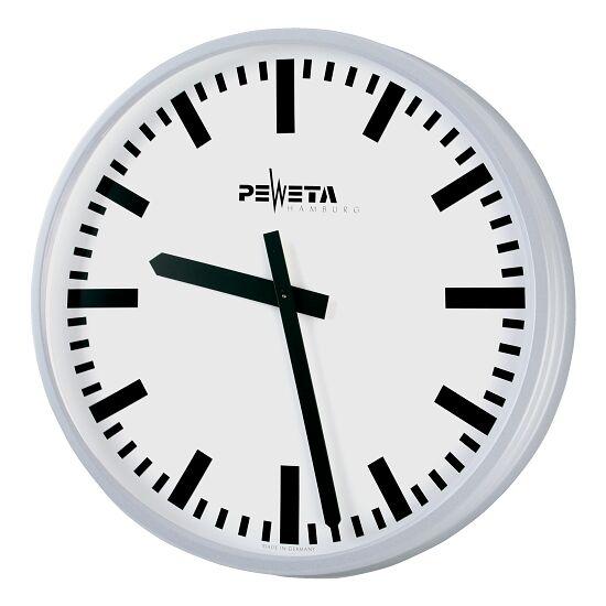 Peweta® Großraum-Wanduhr ø 42 cm, Batteriebetrieb Standard, Zifferblatt DIN-Balken