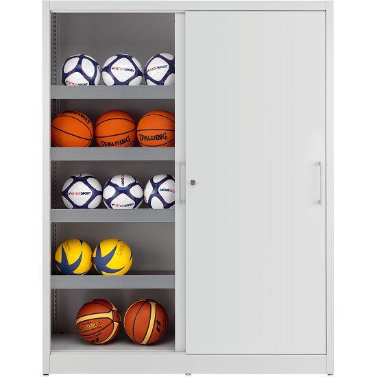 Ballschrank, HxBxT 195x120x50 cm, mit Vollblech-Schiebetüren (Typ 4) Lichtgrau (RAL 7035), Lichtgrau (RAL 7035)