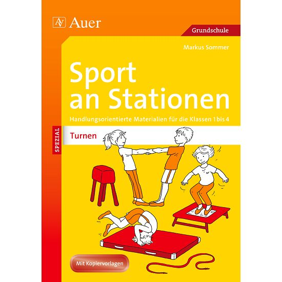 buch sport an stationen turnen 1 4 st ck sport. Black Bedroom Furniture Sets. Home Design Ideas