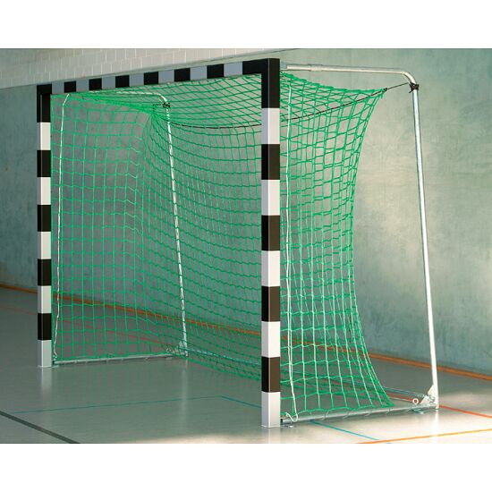 Sport-Thieme® Hallenhandballtor 3x2 m, frei stehend Mit feststehenden Netzbügeln, Schwarz-Silber
