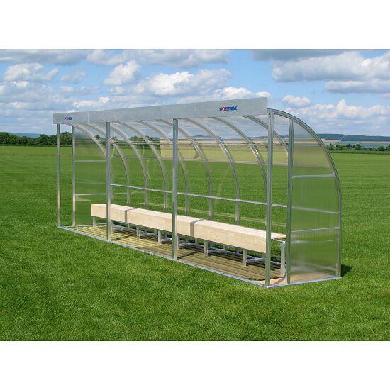 Sport-Thieme® Spielerkabine für 13 Personen Verglasung:Polycarbonat, Sitzbank