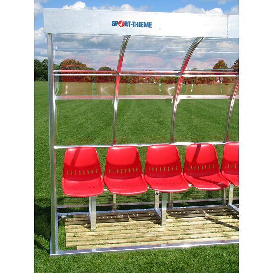 Sport-Thieme® Spielerkabine für 13 Personen Verglasung:Polycarbonat, Sitzschale