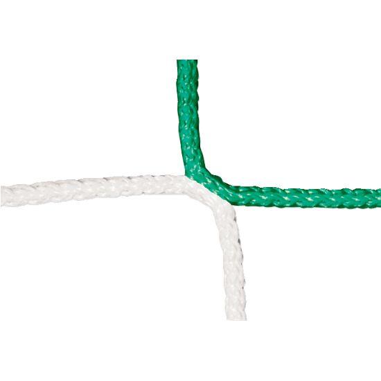 Knotenloses Herrenfußball-Tornetz mit Schachbrettmuster Grün-Weiß