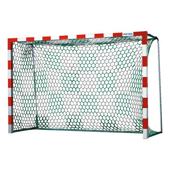 Handballtornetze mit Schachbrettmuster Weiß-Grün