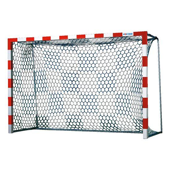 Handballtornetze mit Schachbrettmuster Weiß-Blau