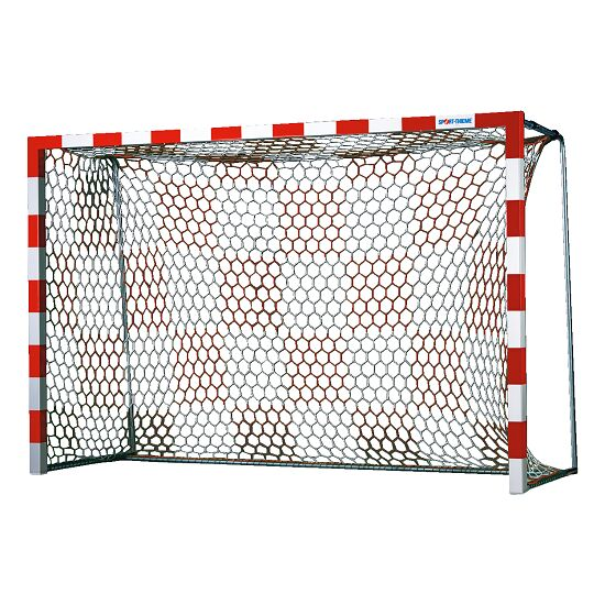 Handballtornetze mit Schachbrettmuster Weiß-Rot