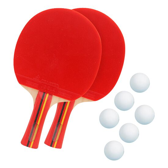 """Sport-Thieme® Tischtennisschläger-Set """"Competition"""" Bälle Weiß"""