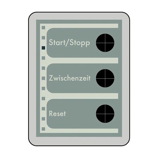 Analoge Stoppuhr mit Minuten- und Sekundenanzeige