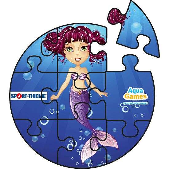 Aqua Game Puzzle Kleine Meerjungfrau, Rund, ø 50 cm.