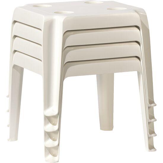 Kunststoff Minitisch 4er Set Weiß