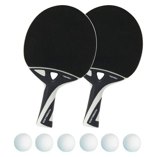 """Tischtennisschläger-Set """"nexeo X70"""" Bälle Weiß"""