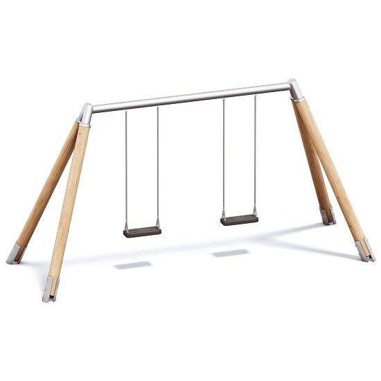Playparc Doppelschaukel Holz/Metall Aufhängehöhe 220 cm