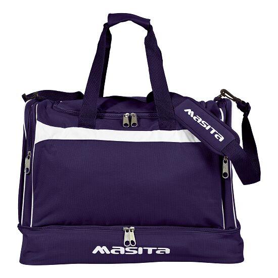 """Masita® Sporttasche """"Brasil"""" mit Bodenfach Junior = 50x39x31 cm, Marine-Weiß"""