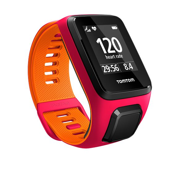 "TomTom Sportuhr Runner 3 ""Cardio + Music"" Gr. S, Pink/Orange"