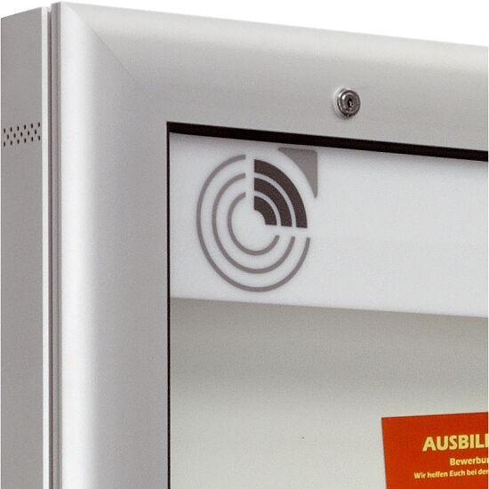 """Schaukasten """"S-Serie"""", Querformat Rückwand: Weiß, 1025x800x80 mm"""