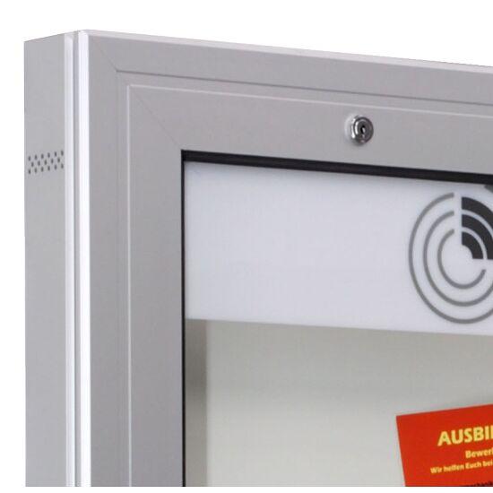 """Schaukasten """"K-Serie"""", Querformat Rückwand: Weiß, 1025x800x75 mm"""