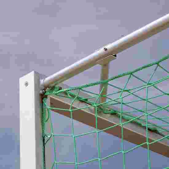 7-/8-mands alu-fodboldmål 5x2 m. Kvadratprofil. Med bundrumme. Flytbart.