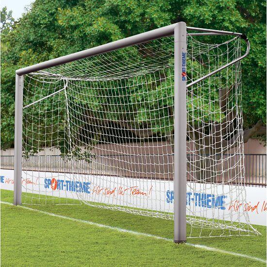 7-/8-mands fodboldmål 5x2 m. ovalprofil. I jordbøsninger. Med svejsede geringer.