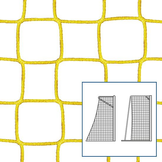 """80/100 cm"" Small Pitch / Handball Goal Net Yellow, 4 mm"