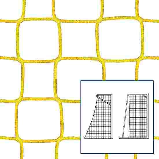 """80/100 cm"" Small Pitch / Handball Goal Net Yellow, 4 mm"