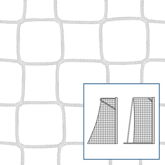 """80/100 cm"" Small Pitch / Handball Goal Net White, 5 mm"