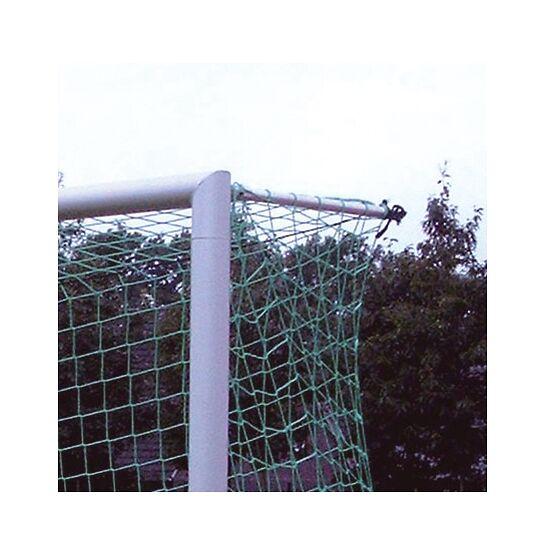 Alu-Fußballtor, 7,32x2,44 m, verschraubte Gehrung, in Bodenhülse stehend